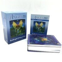 High quality custom silver Edges tarot cards printing oracle cards with book instruction
