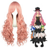 Hight Quality 90cm Long Pink Wig Cosplay Vocaloid Luka Wig Synthetic Anime Hair Wigs