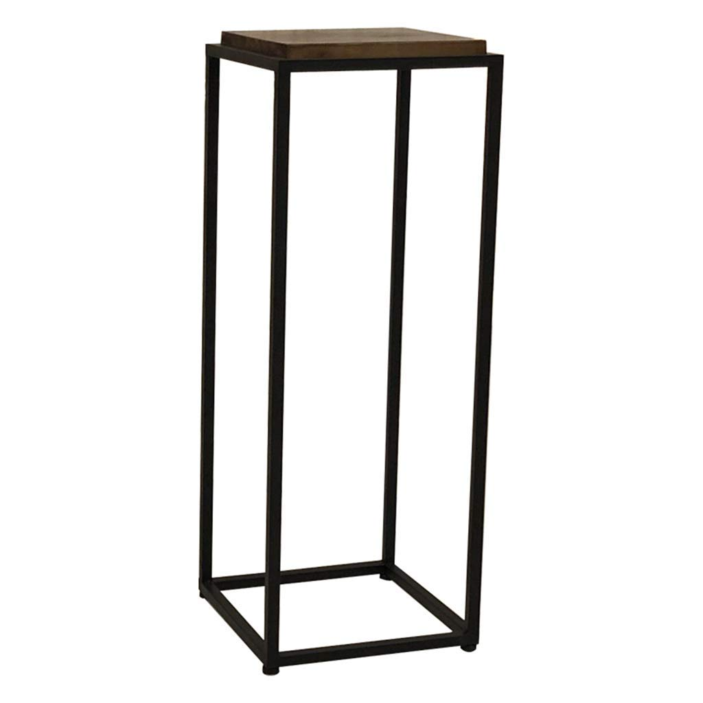 CSQ Wrought Iron Wood Flower Stand, Shelf Display Stand Protective Floor Living Room Bedroom Office Flower Pot Decoration 303080CM (Size : 303080CM)
