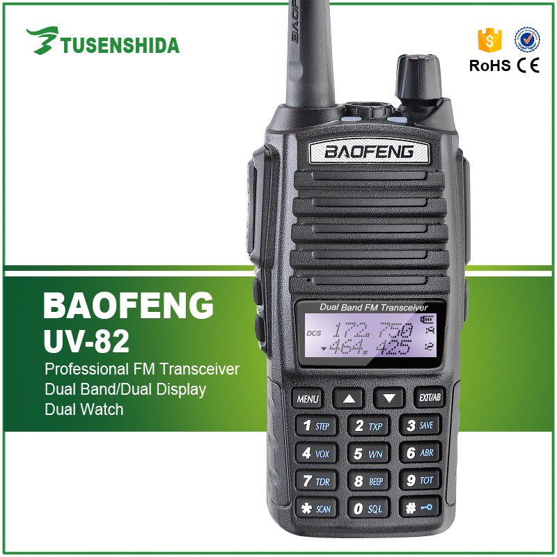 Wholesale Baofeng UV-82 Dual Band 8W 8KM Walkie Talkie VHF 136 - 174MHz / UHF 400 - 520 MHz cb Two Way Radio