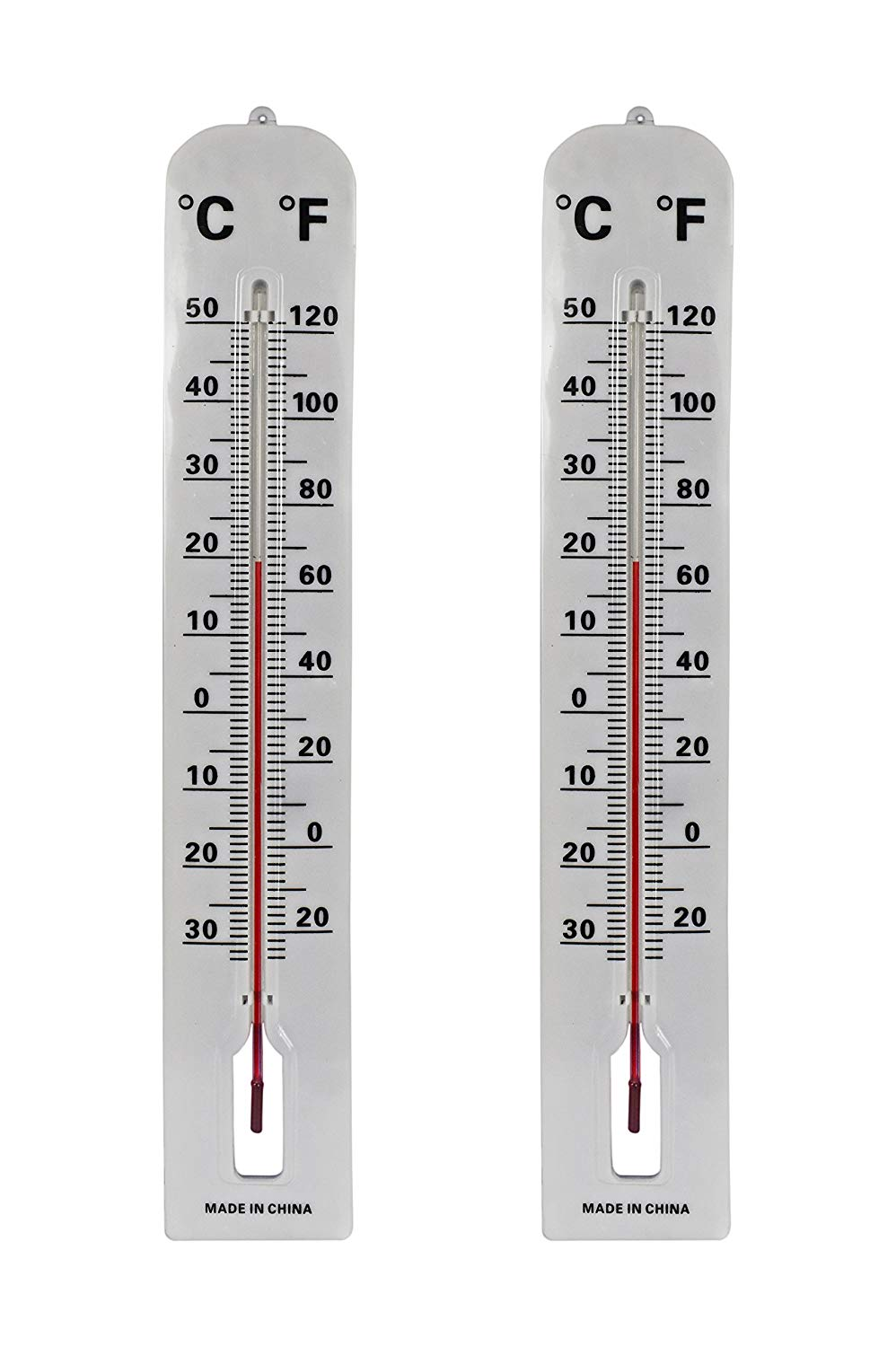 Get Quotations Black Duck Brand Set Of 2 Jumbo Wall Indoor Outdoor Thermometers Includes Mounting Hardware