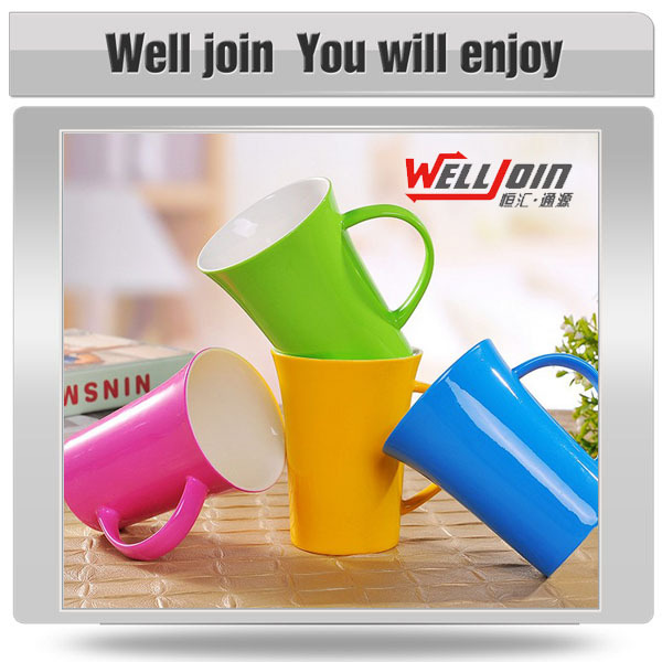 Different color fashionable ceramic coffee cups chinese