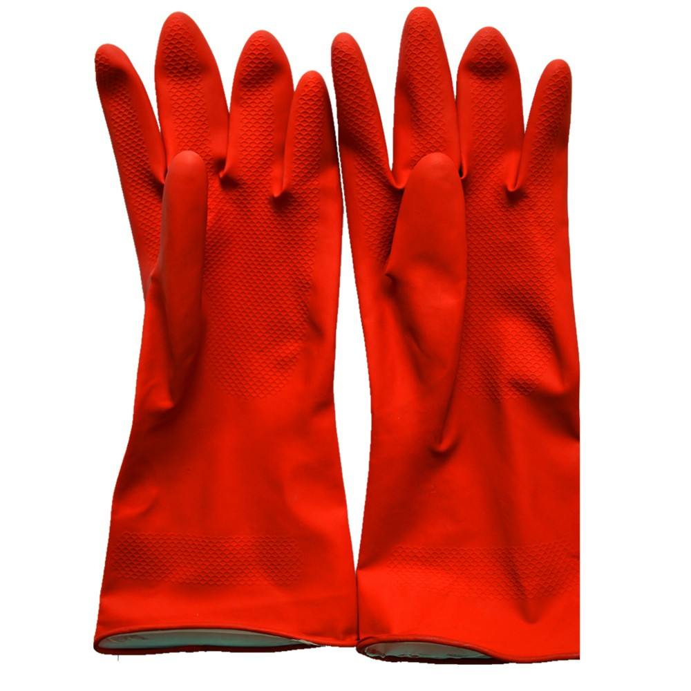 Household Latex Gloves Spray Flock/cotton Lined/unlined Latex Hand Gloves