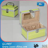 Aluminum cosmetic case plastic vanity case
