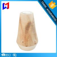 Fashion wood candle holder home decoration 15cm