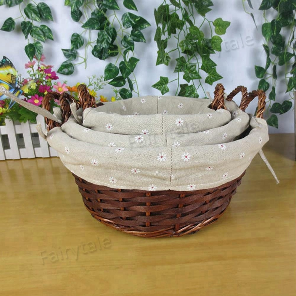 Bicycle Accessories Competent Outdoor Bicycle Basket Environmentally Friendly Rattan Willow Hand Woven Basket Bicycle Accessories