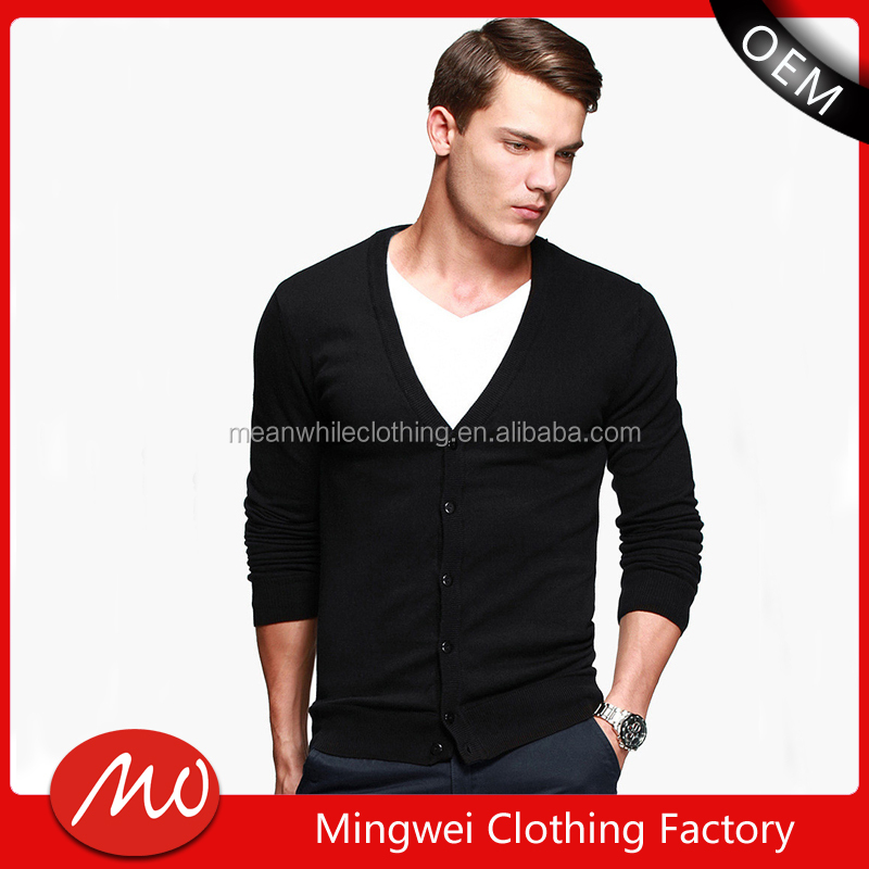 black thin v neck sweater mens cardigan