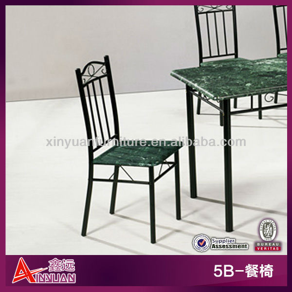5B China hot sell wooden seat metal tube legs metal dining chair parts