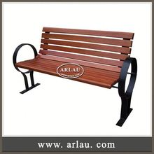 Arlau Indonesian Mahogany Furniture,Wood Outdoor Furniture Garden Bench,Modern Outdoor Composite Wood Bench
