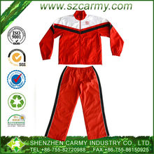 Modern design Polyester red white black customer logo available Wholesale sports track suits