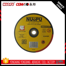 Excellent price abrasive disc power tools type cutting wheels