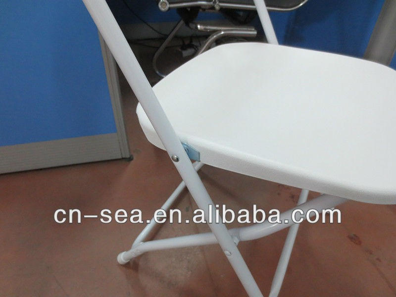 Luce cheap bianco resina plastica sedie pieghevoli sedia di