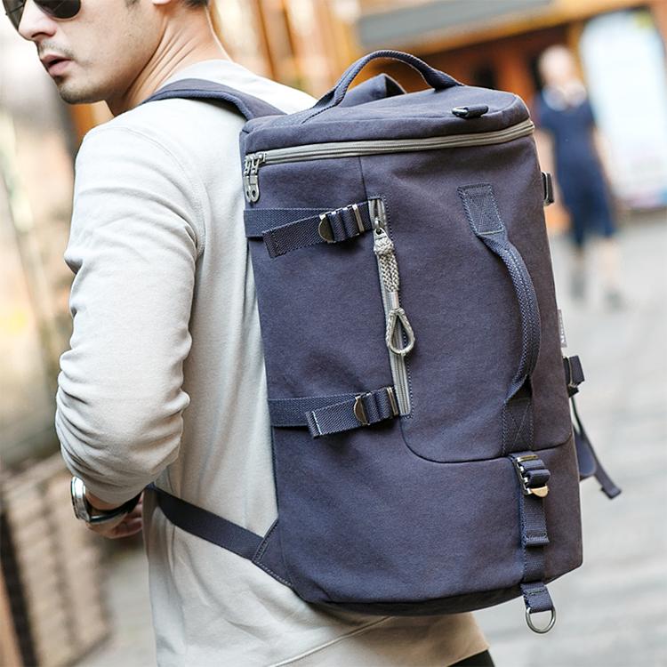 Personnalisé hommes coton toile weekender porter sur le sac à dos de sport de voyage week-end sac