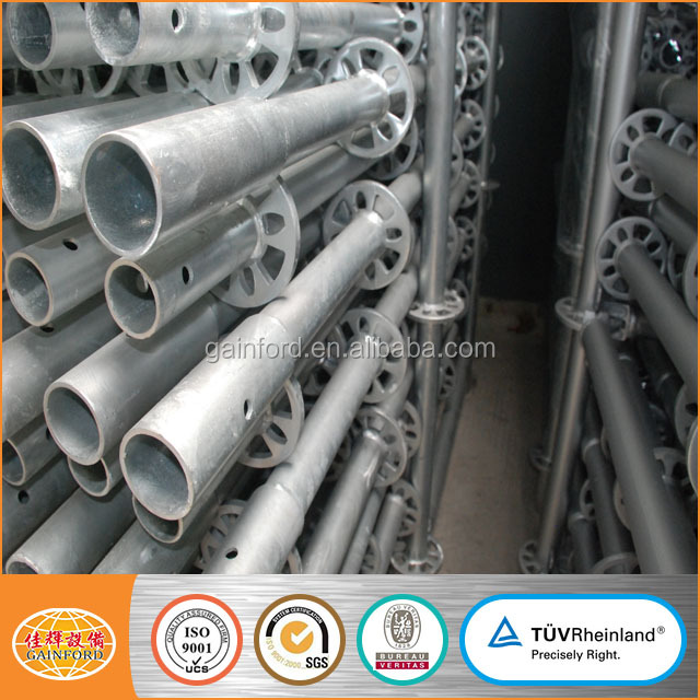 1M, 2M, 3M length the best quality scaffolding galvanized ringlock system standards for building construction materials