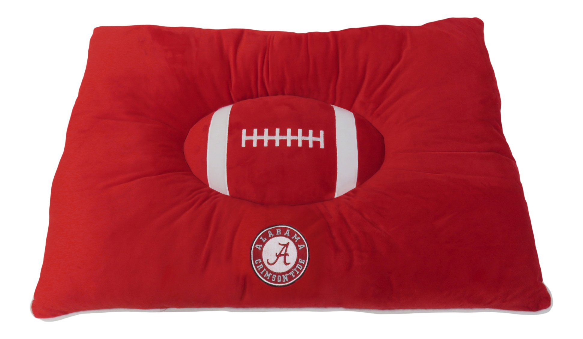 "College PET BED. - ""Soft & Cozy"" Plush Pet/Dog Pillow Bed. - Football Pet Bed. - Football Dog Bed. - Premium Pet Pillow Bed. - Premium Dog Bed. - 23 Teams Available! - Pet Mattress. - Dog Mattress. - NCAA Pet Bed."