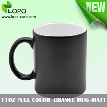 11OZ matte finish Color changing magic mug for personalized sublimation printing