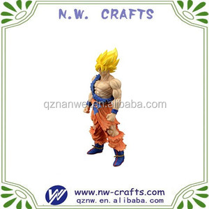 Dragon ball Z super match asian people resin statue
