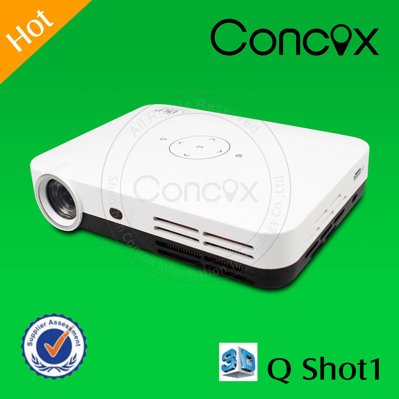 Concox Manufacturer Mini Full Hd 3d 1080p Led Projector Play Files Directly 2D to 3D Conversion Q shot 1