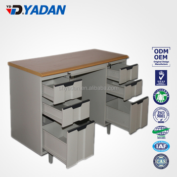 steel furniture study table desk double sided office desk with