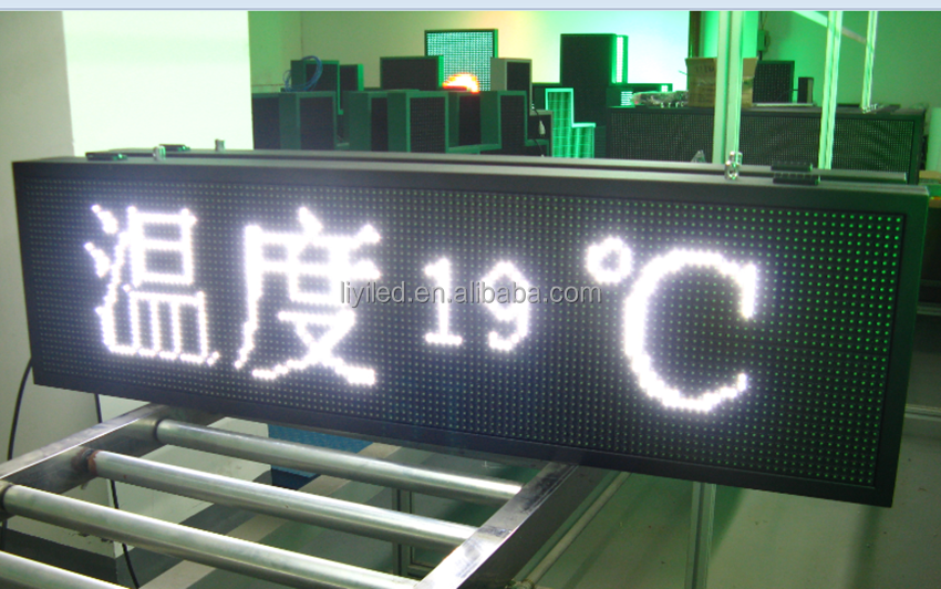 LIYI temperature function electronic window message display indoor