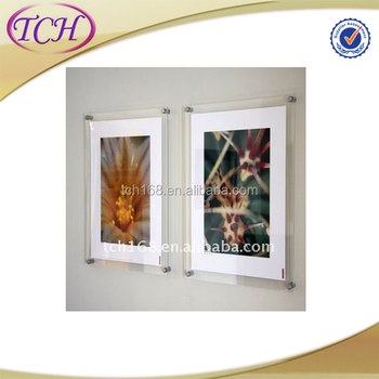 Double Wall Mounted Acrylic Photo Frame Plexiglass Certificate Frame ...