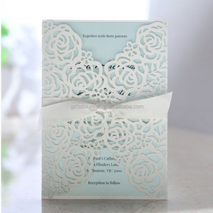 Hot Sale Elegant Laser Cut 2015 Latest Wedding Card Designs