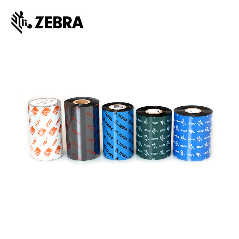 Zebra Custom Wax Resin Thermische Transfer Label Barcode Printers Lint 30-110mm * 300 Hars Lint Wax Lint