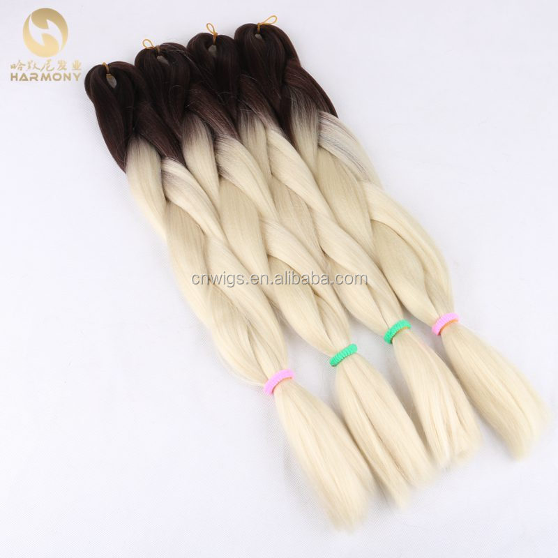 10packs 24 100g light blonde ombre braiding hair brown and light blonde 613# synthetic box braids for making small twist hair фото
