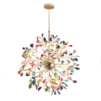 ZhongShan factory modern colorful G4 fancy home luxury pendant lights ceiling lights