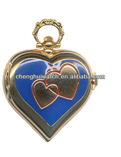 Kids Pocket Watch heartshape pendant nurse watch cheap children's pocket watches