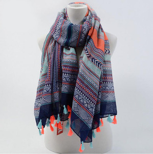 Factory new vintage Women Lady Bohemian Voile Soft Scarf Large Beach tassel Shawl Scarves