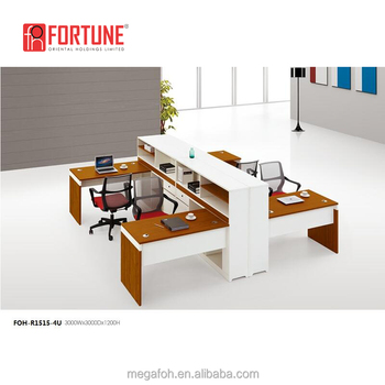 Canada Modern Office Furniture Modular Open 4 Staff Workstation With Side  Cabinet(FOH R1515