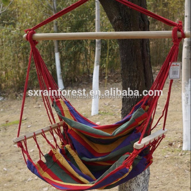 New design 1 person garden camping hammock swing wooden