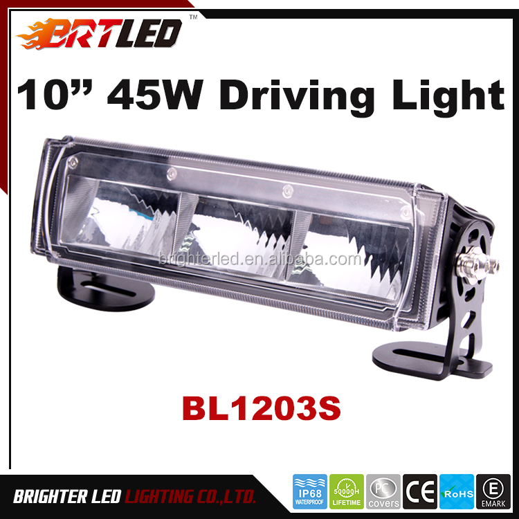 10inch 45W Auto Led Driving Light-ECE R112 R10 IP68 for extremely bad whether