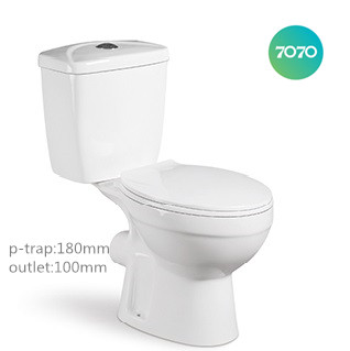cheap chaozhou ceramic washdown p-trap two piece sanitary ware toilet T03