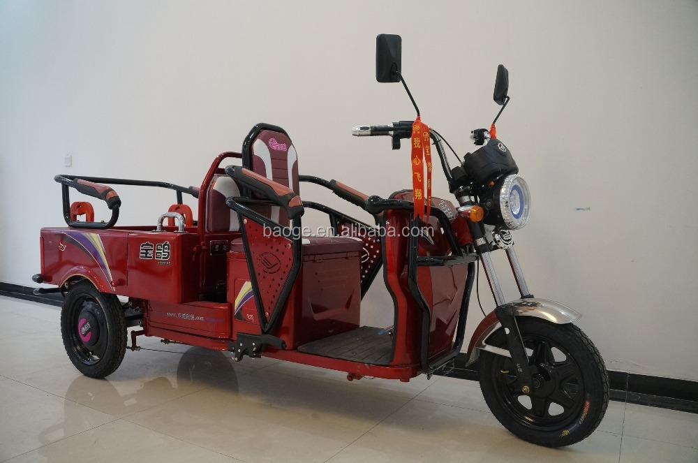 Folding electric auto rickshaw for adults