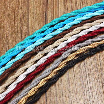 Decorative Vintage Style Lighting Textile Cable Fabric Covered Electrical Wire Light Textil