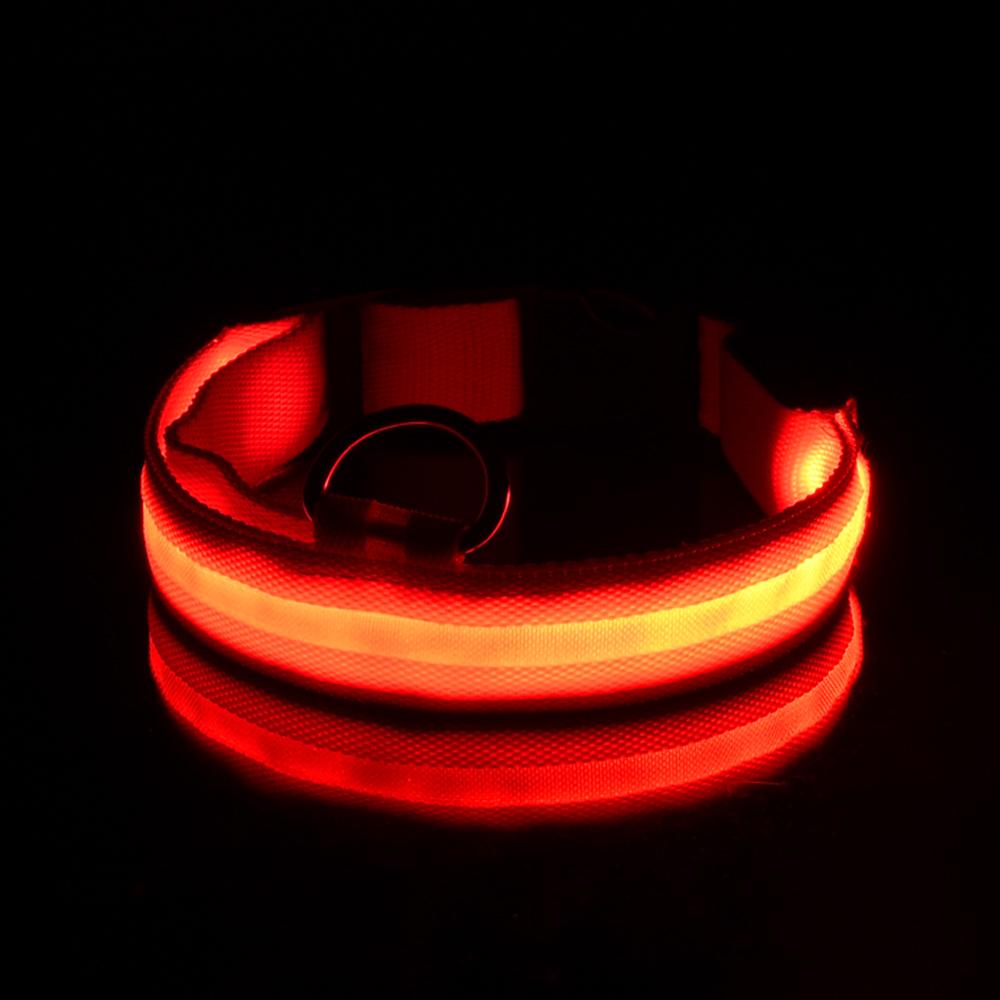 卸売ライトアップ犬襟カスタマイズされた防雨usb充電式led犬の首輪