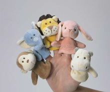 finger puppet custom toy Plush Animal human puppets Finger doll animal finger puppet and story