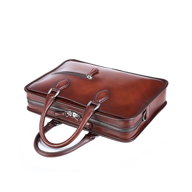 TERSE 2017 brand vintage leather tote bags men custom designer handmade  genuine leather briefcase 9977201aedb38