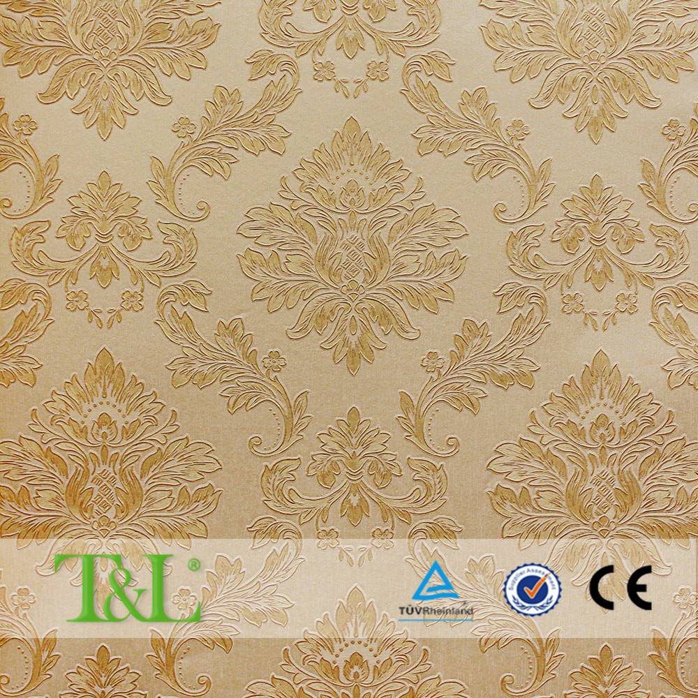 Cream Color Decorative Wall Stickers Living Room Wallpaper - Buy ...
