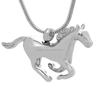 Wholesale Urn Opening Shown on Angel Horse Cremation Jewelry Pendant Made in China