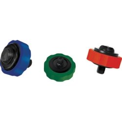 "WLMW1716 WILMAR Thumbwheel Ratchet Set, 3 Piece, 1/4"", 3/8"", 1/2"" Drive, Quick Release, Color Coded, Non Slip Grips"