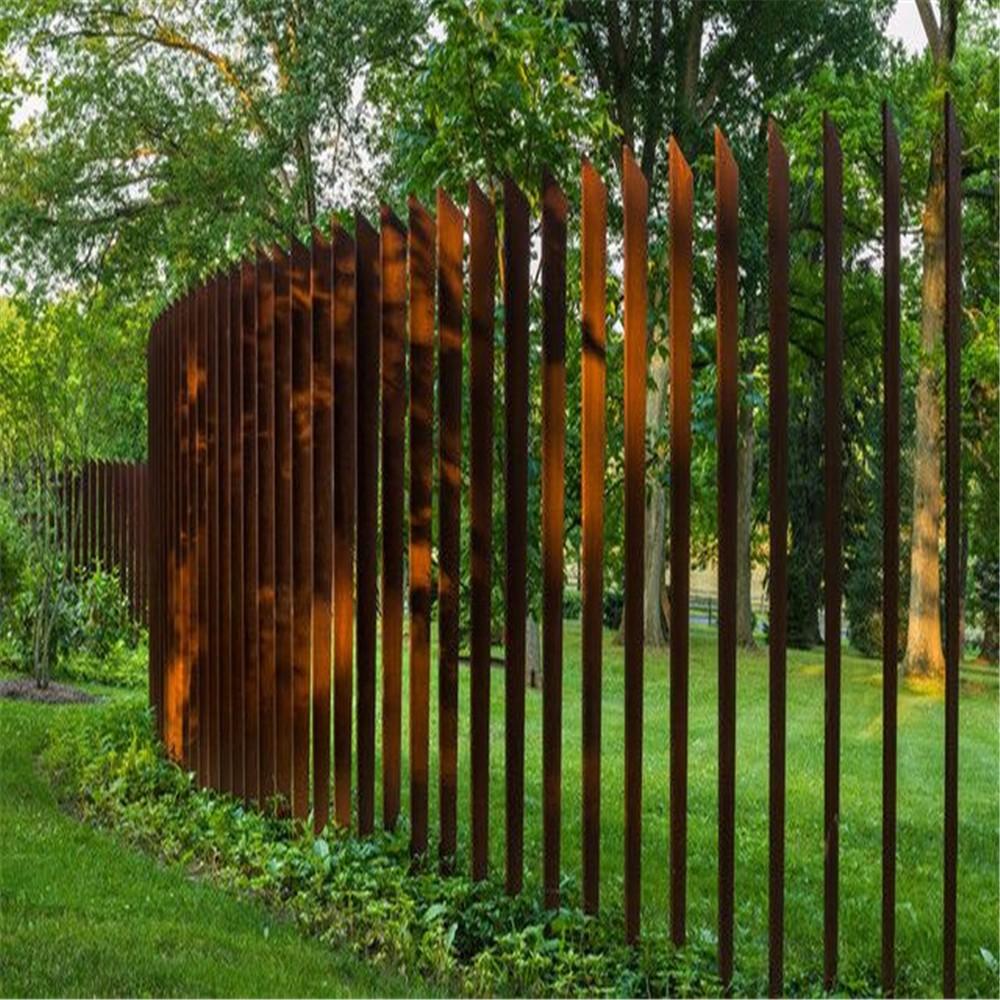 Corten Steel Laser Cut Rust Rusty Metal Farm Fence T Post Price