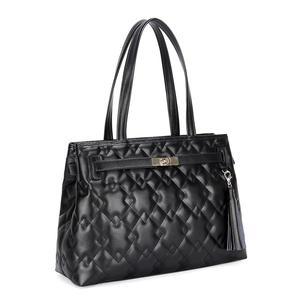 Factory price branded lady genuine leather handbag black tote bag a2ddcffd1fb01