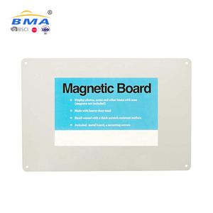 Metal memo price notice message magnet white magnetic writing dry erase board