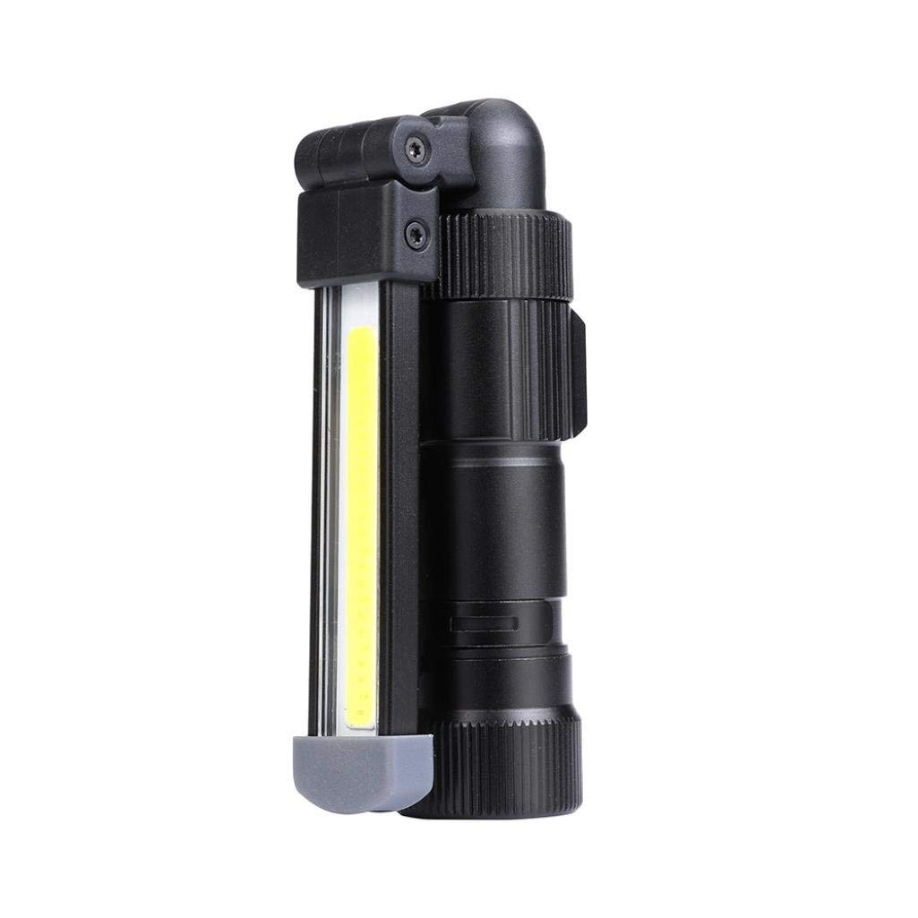 Sonmer COB Rechargeable LED Cordless Work Light,With Magnetic Folding Hook Hanging and 5 Brightness Modes