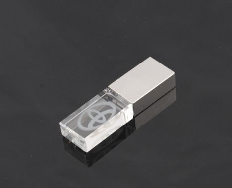Crystal <strong>USB</strong> Flash Drives with LED Light Volkswagen's VW Logo 4GB 8GB 16GB 32GB <strong>USB</strong> 2.0 Flash Disk Stick Pen Drive