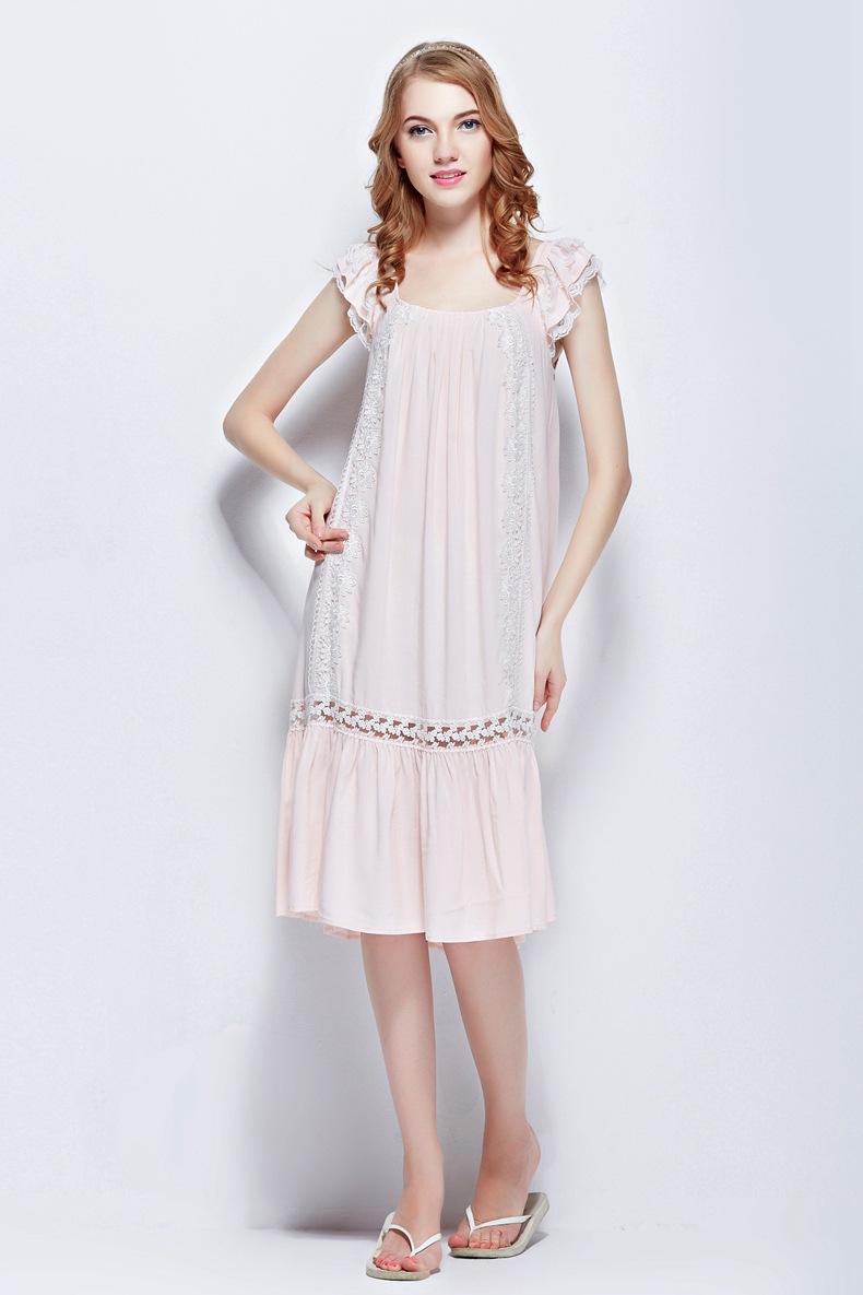 Cute girl dress 100% Cotton Princess Women s Sleepwear  e783a8b61