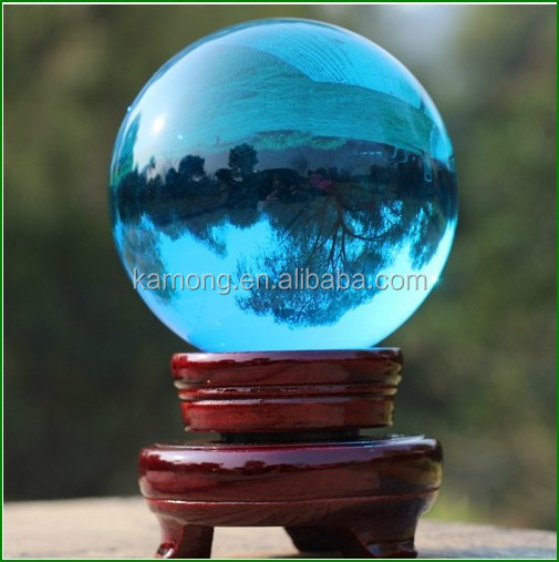 Engraving glass healing ball/crystal globe / crystal ball sphere stands